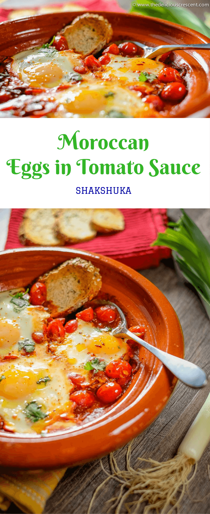 Moroccan eggs in tomato sauce is a healthy comfort dish that is easy to prepare. It is a tasty option for brunch or any other meal of the day. #Moroccan #Eggs #Brunch # Breakfast #Shakshuka #Tomatoes
