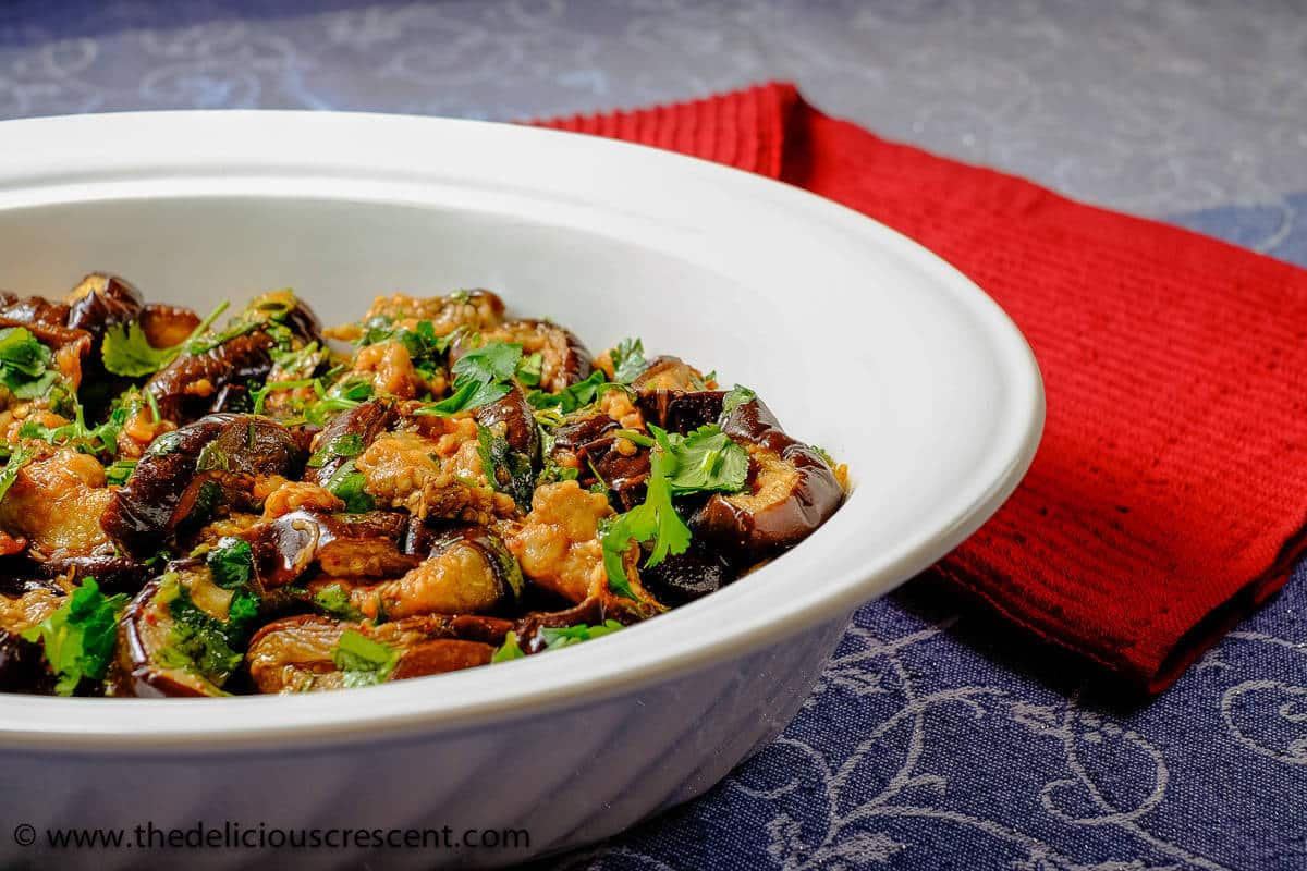 Baked Eggplant Salad with Chermoula