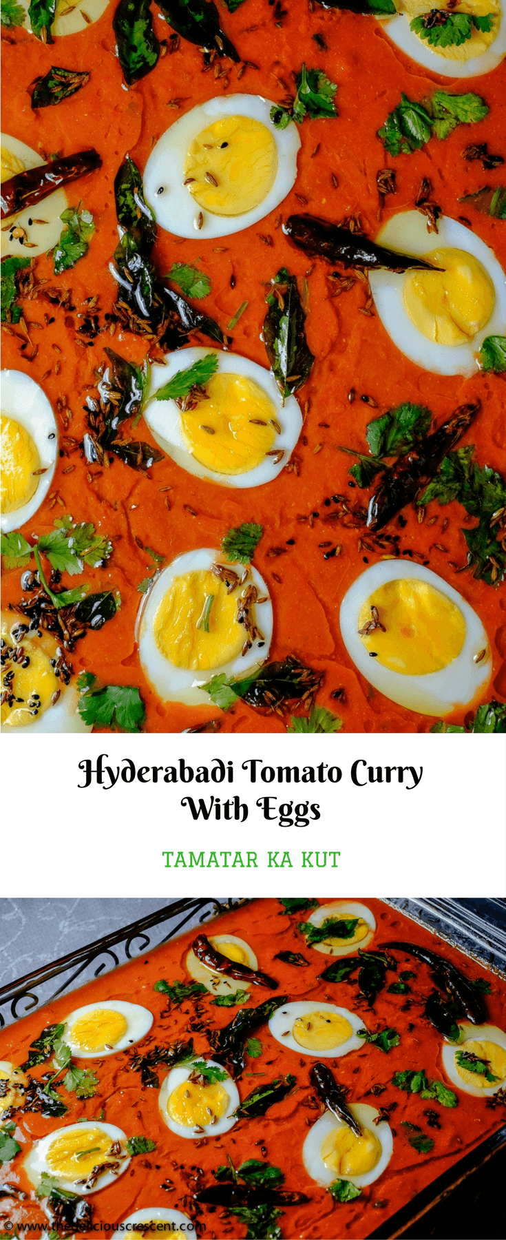 Hyderabadi Tomato Curry (Tamatar Ka Kut) is a delicious Indian dish with eggs in a spicy and saucy tomato gravy and is low carb, gluten free, antioxidant rich and with good protein. It is also easy to make.