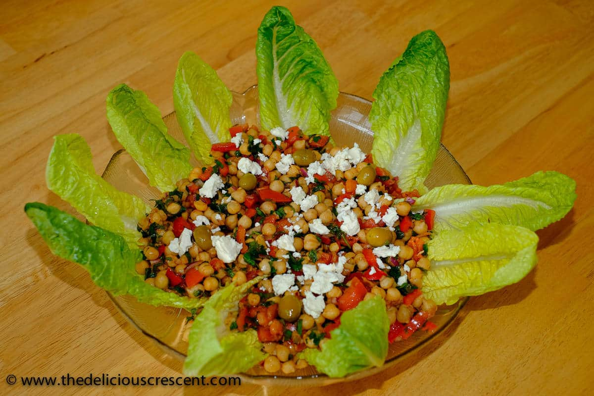 Mediterranean chickpea salad is inspired by the flavors of the eastern Mediterranean. Delicious could not get any more nutritious than this!