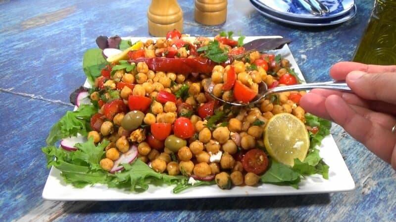 Tasting the Mediterranean Chickpea Salad