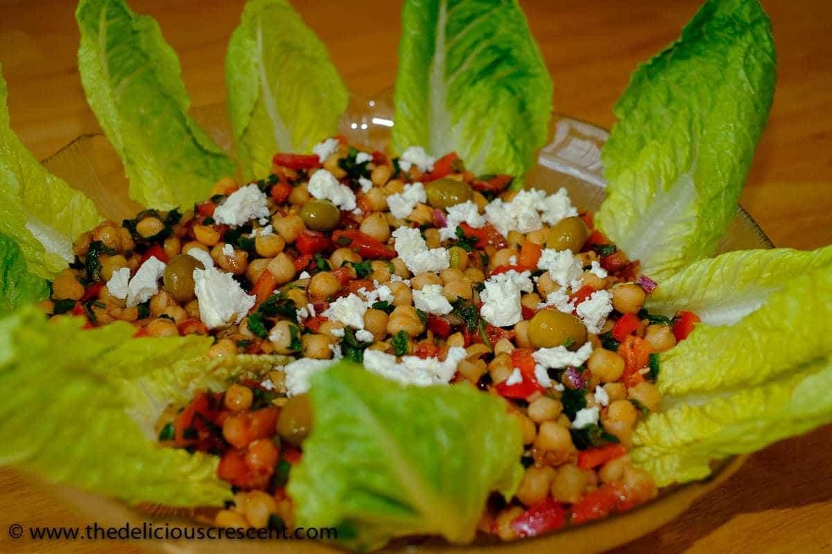 Mediterranean Chickpea Salad - The Delicious Crescent