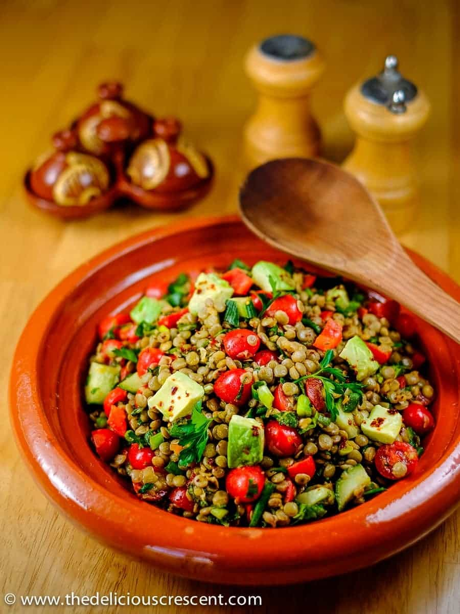 Spiced Herbed Lentil Salad with Avocado - The Delicious ...