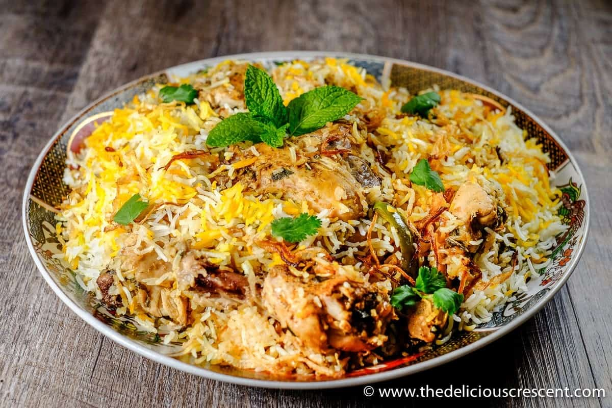 Easy Hyderabadi Chicken Biryani, famous authentic Indian delicacy with ...
