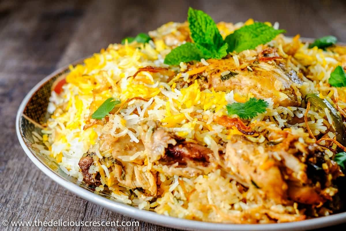Easy Hyderabadi Chicken Biryani - The Delicious Crescent
