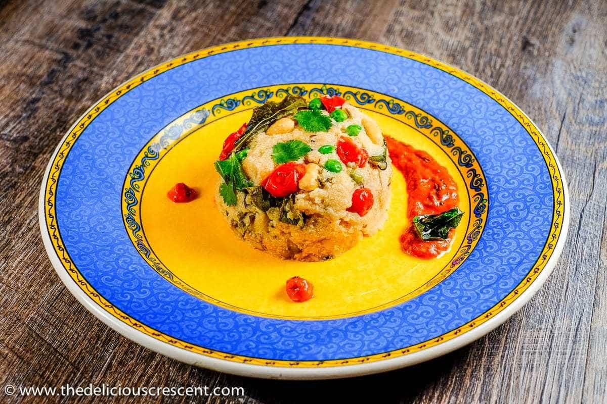 Healthy Cauliflower Upma with chutney