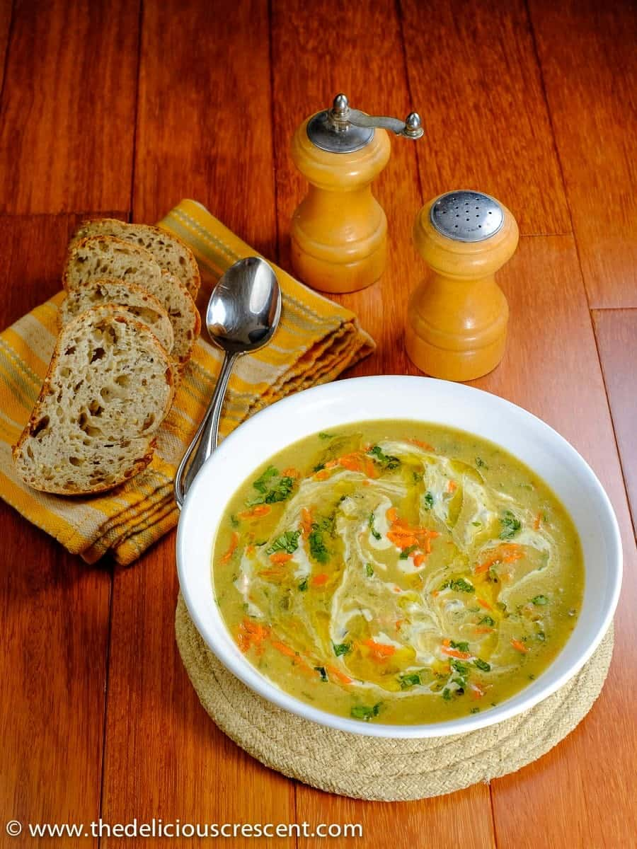 Persian Cream of Barley Soup is a delicious warm bowl of comfort. So easy, nutritious, bursting in taste and flavor, light in carbs and vegetarian.