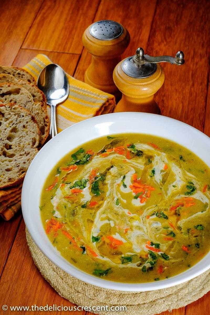 Persian Cream of Barley Soup (Soup-e Jo)