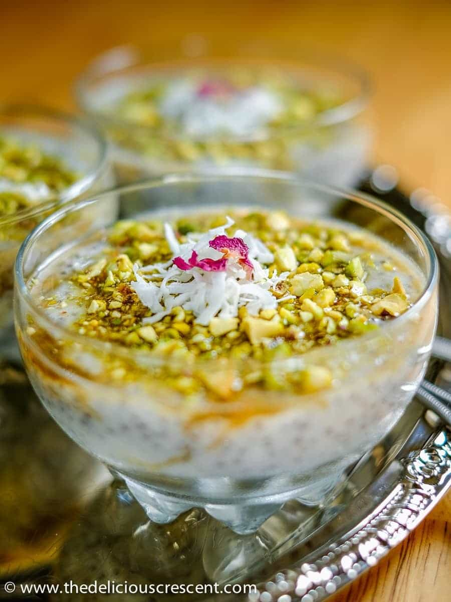 Chia Mahalabia with Pistachios