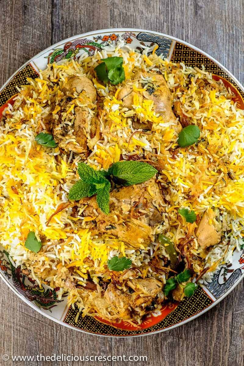 Easy hyderabadi chicken biryani the delicious crescent easy hyderabadi chicken biryani famous authentic indian delicacy with succulent chicken in layers of fluffy forumfinder Image collections