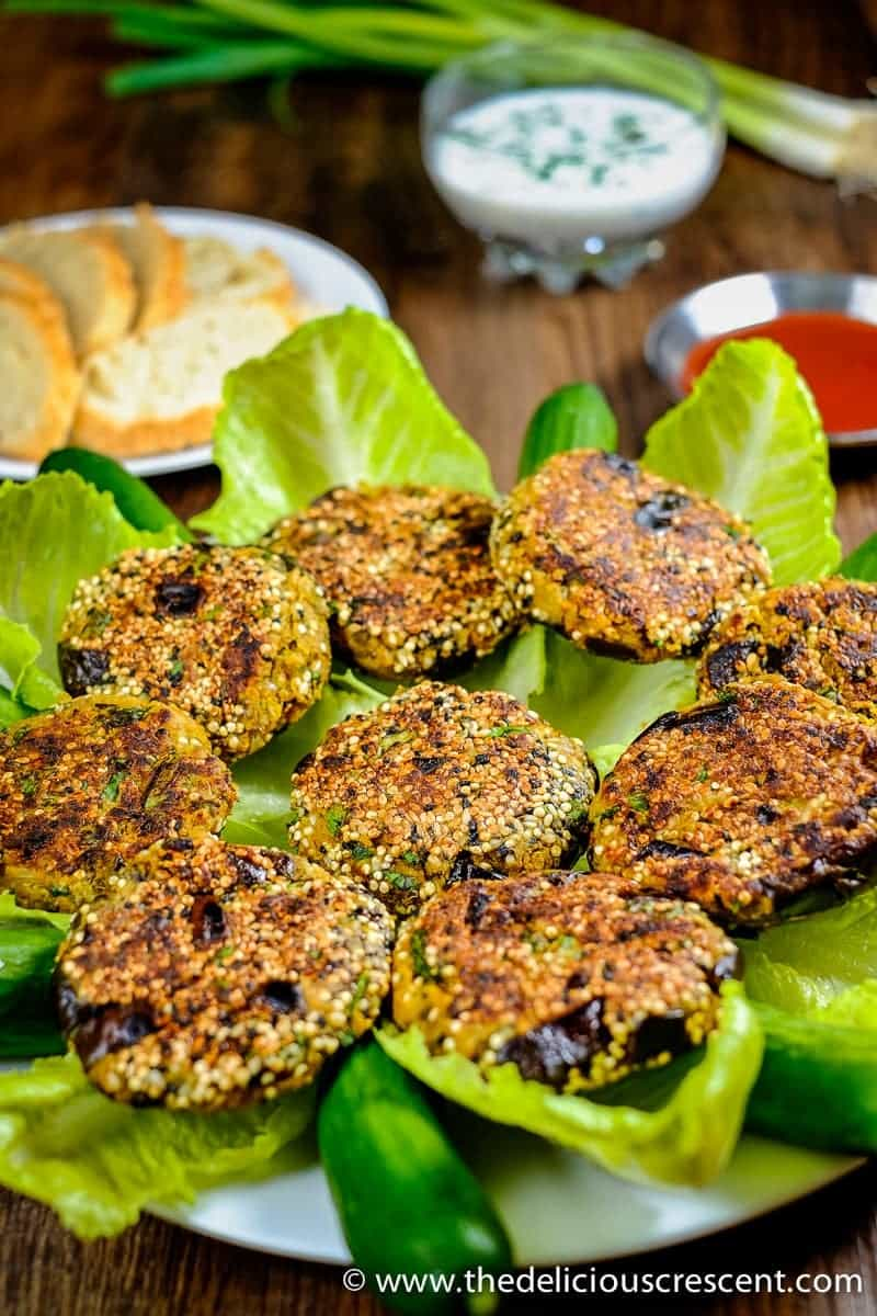 Vegetarian Kotlet with Eggplant (Chickpea Patties)
