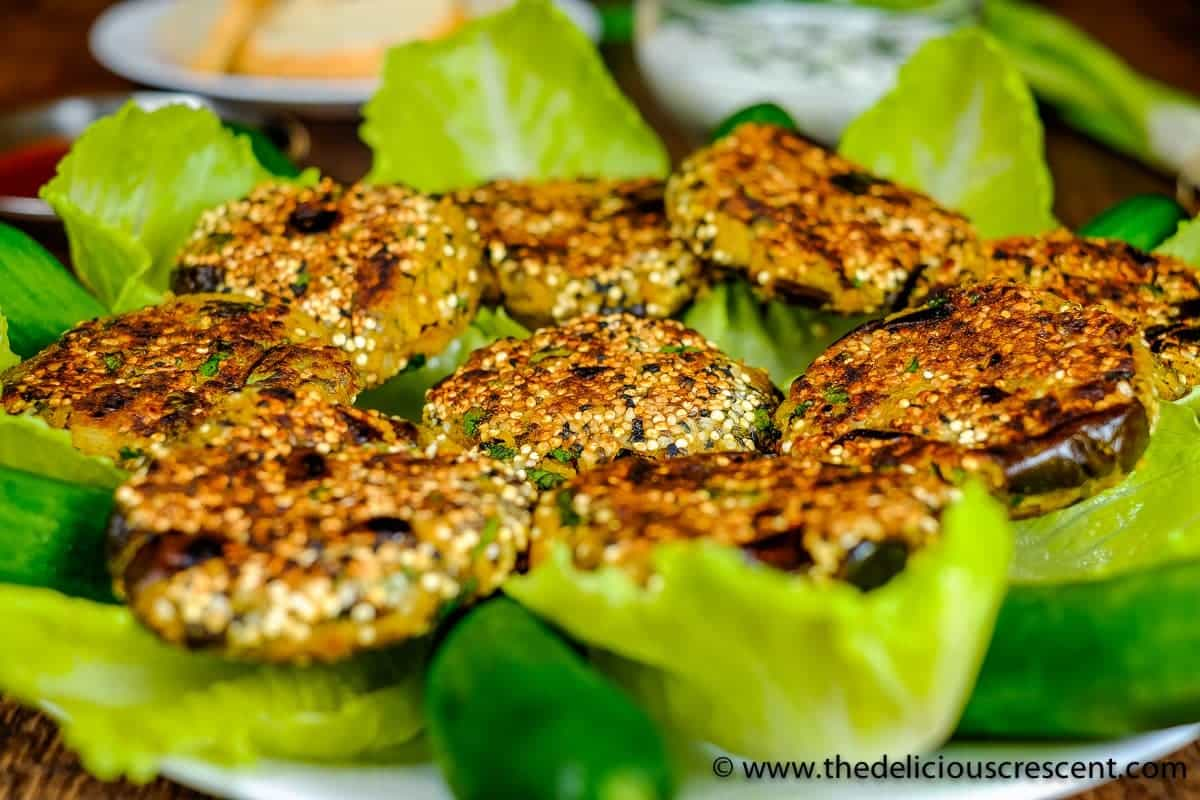 Vegetarian Kotlet with Eggplant are Persian style chickpea patties that are so delicious, nutritious, low carb, gluten free, fiber rich and with healthy fats!