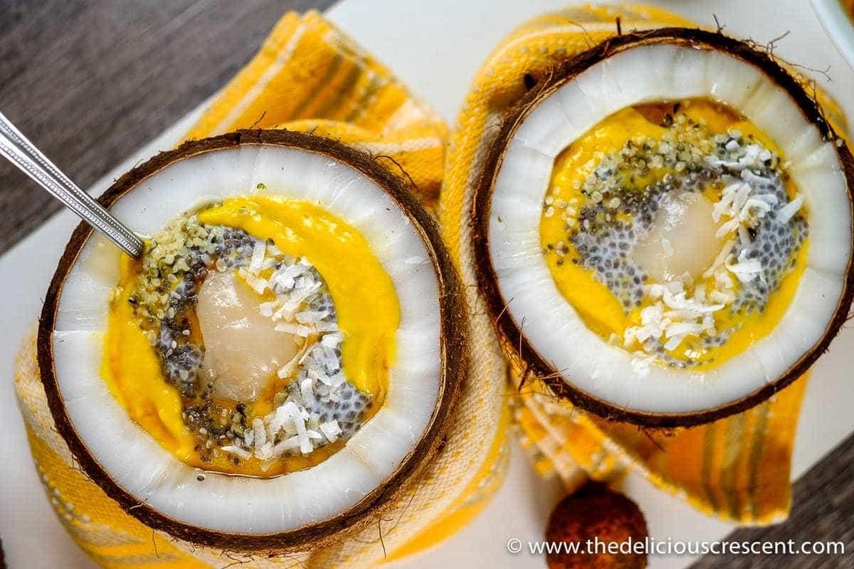 Mango Chia Coconut Smoothie Bowl
