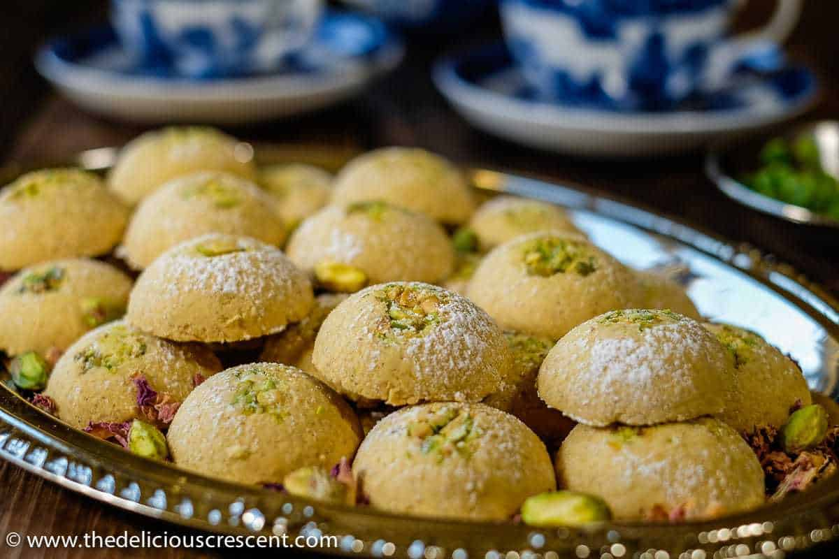 Cardamom Chickpea Cookies with Pistachios – Buttery soft, delicate, crumbly, gluten free cardamom scented cookies for festive and all times!