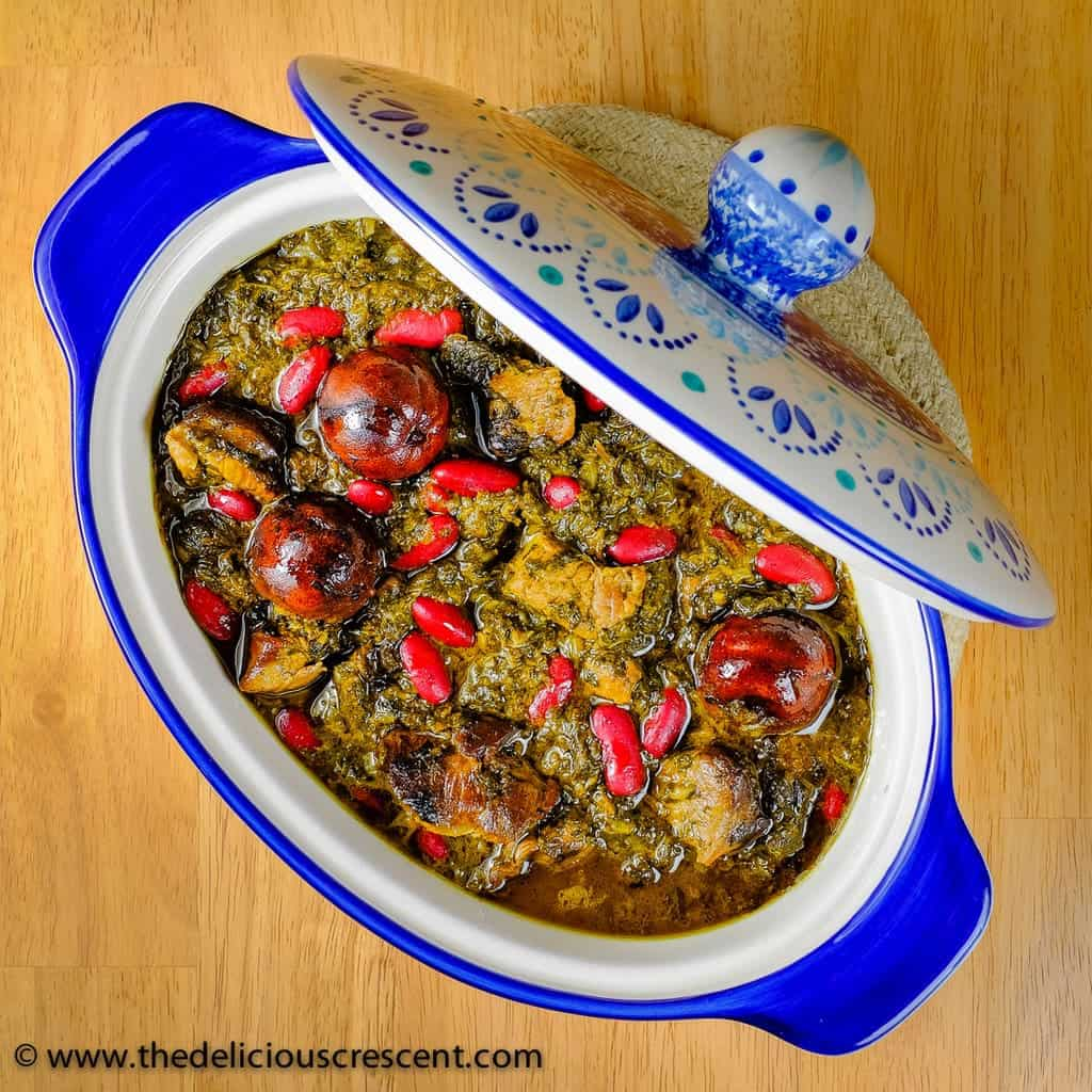 Ghormeh Sabzi is a popular Persian herb stew with juicy lamb in intensely fragrant, rich and tangy herb gravy, packed with protein, fiber, phytonutrients and potassium. Fresh herbs are best for this stew, but it can be substituted with dried herbs.