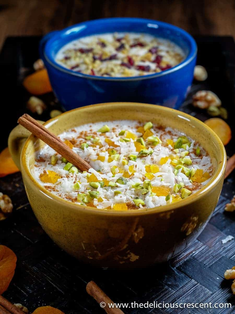 This Sahlab is a healthy and delicious beverage flavored with orange blossom and cinnamon. It is SO creamy. Hot or cold, it is so soothing and refreshing!! This is an adapted version of the popular middle eastern beverage.