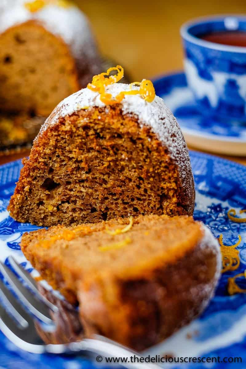 Moist Maple Sweet Potato Walnut Butter Cake - sweet, tender and moist cake made with walnut butter, packed with flavor and nutrients - omega 3 fatty acids, phytochemicals, vitamins and minerals.
