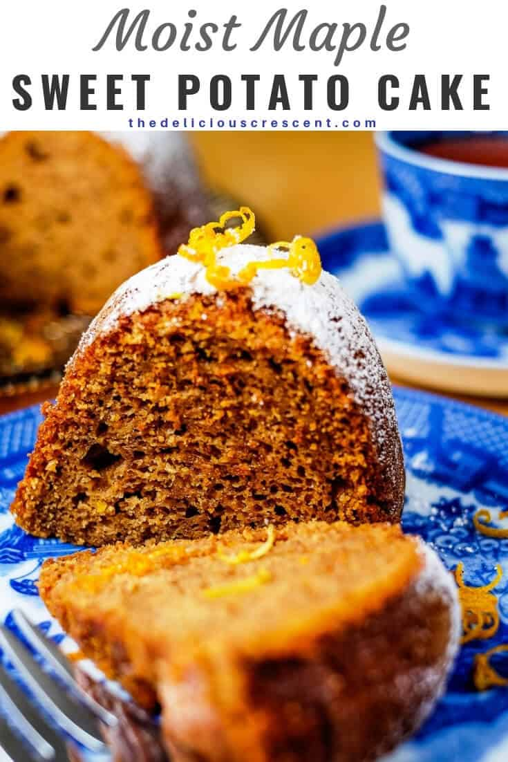 Maple sweet potato cake with walnut butter is so moist and delicious. This bundt cake is baked with walnut butter and maple syrup and packed with flavor and nutrients. Try this recipe for an amazing dessert this fall, thanksgiving and holiday season. #sweetpotatorecipes #holidayrecipe