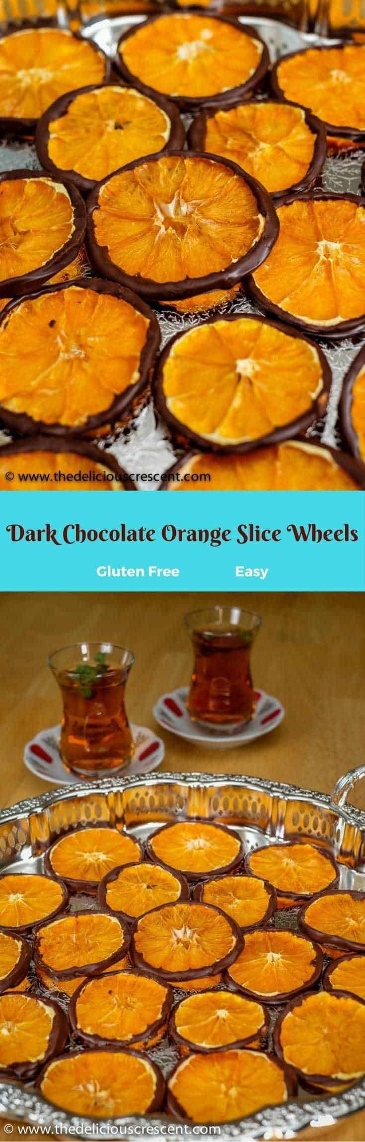 Dark Chocolate Orange Slice Wheels are an elegant treat with decadence in every bite. So easy, healthy and delicious tangy-sweet treat!