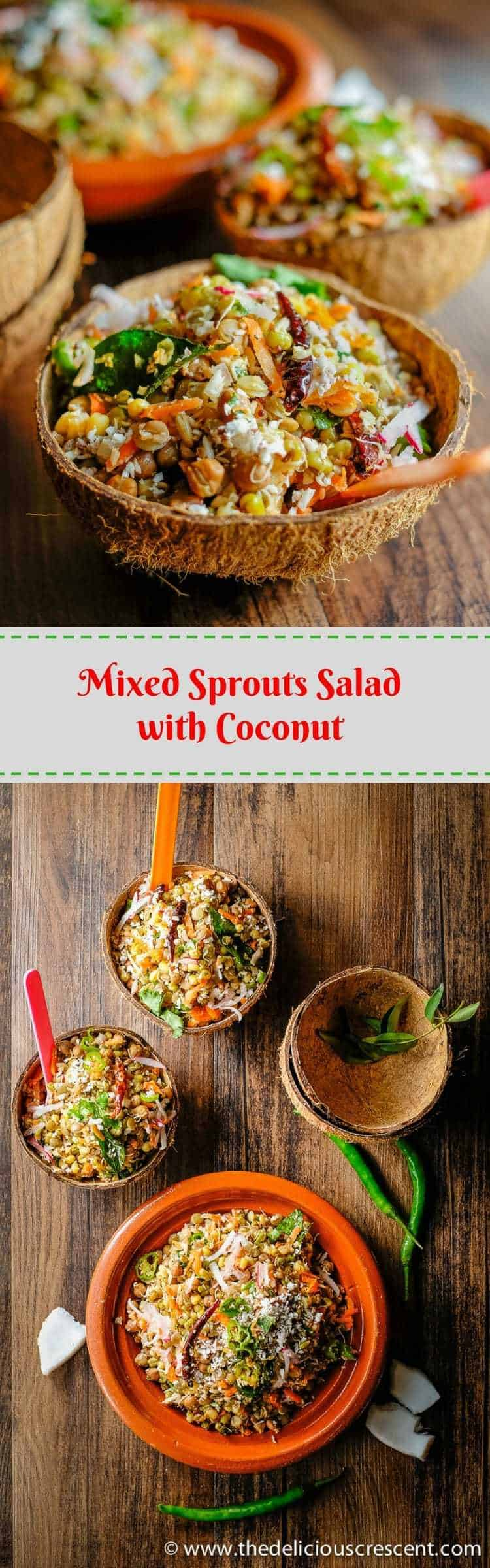 Mixed sprouts salad with coconut sundal the delicious crescent mixed sprouts salad with coconut infused with indian spices has a scrumptious earthy flavor forumfinder Gallery