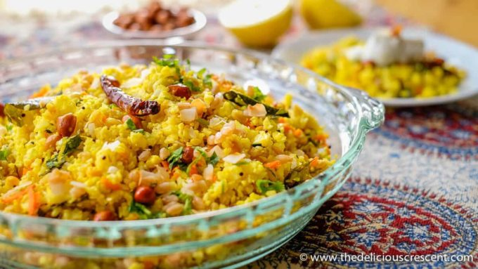 "Cauliflower lemon rice with farro is a south Indian style dish that is spicy, tangy and so tasty. The light and fluffy cauliflower ""rice"" is paired with the chewy bite of farro, all wrapped in a lemony taste and aromatic spices."