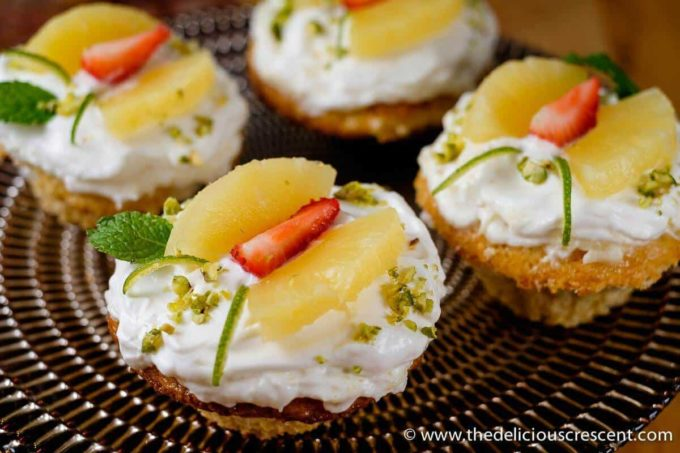 Pineapple Cupcake. Made with fresh cream and yogurt they are decadently delicious. The yogurt lightens up the cupcakes, enhancing the nutrition, and are really lip smacking.