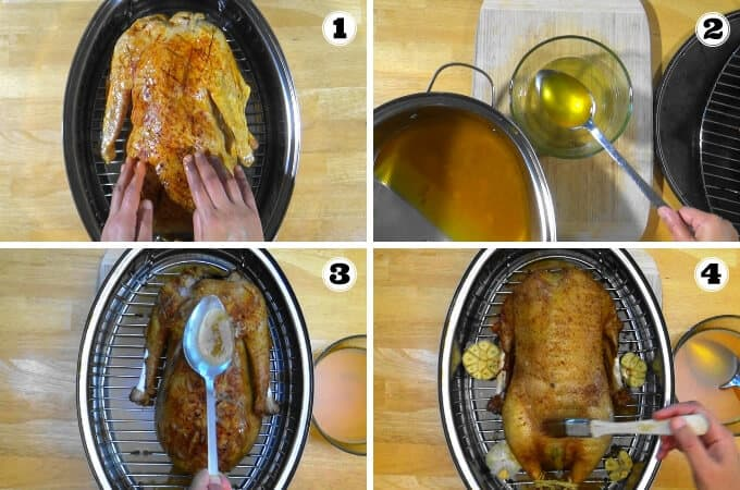Step by step goose roasting photos