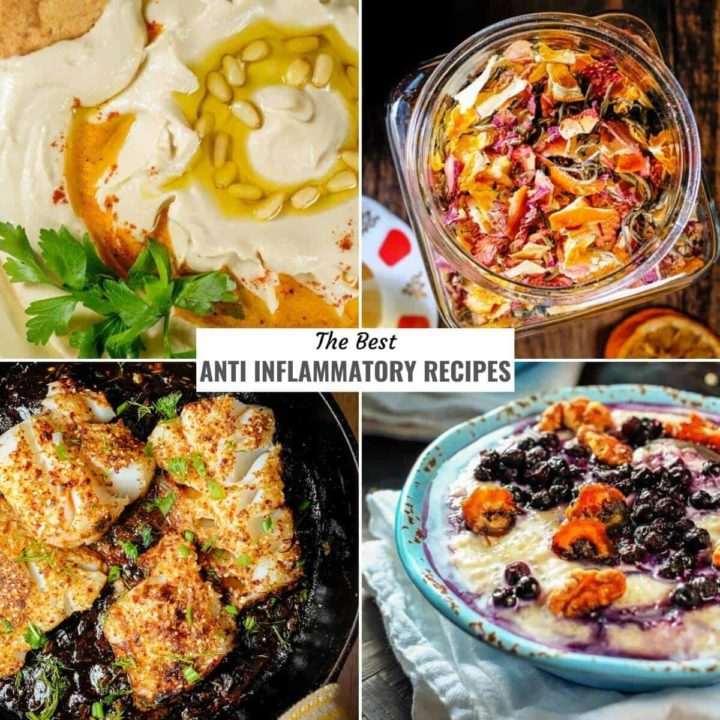 An assortment of the best anti inflammatory recipes.