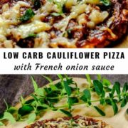Low Carb Cauliflower Pizza Pin Image