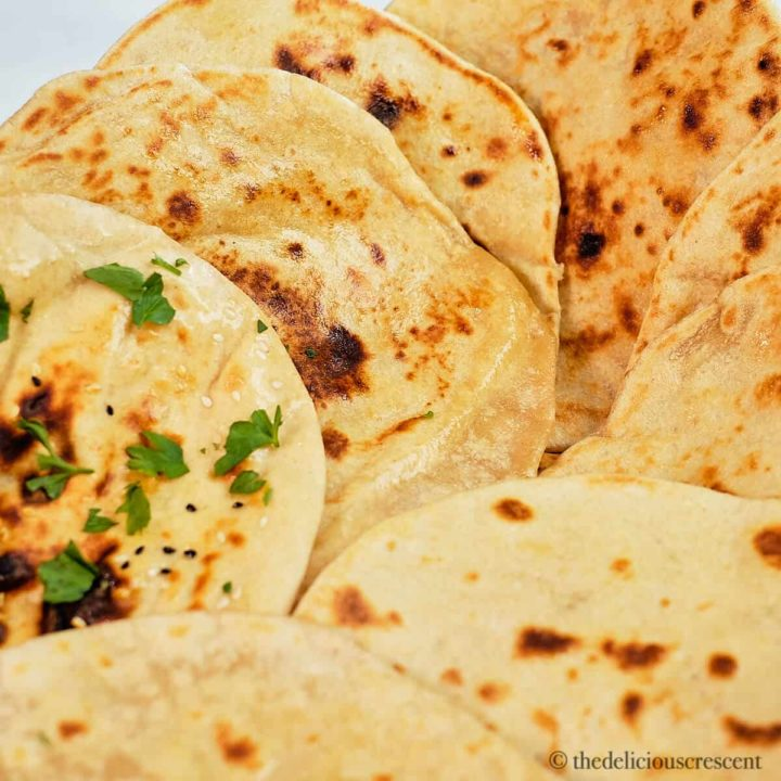 A stack of quick and easy flatbreads.