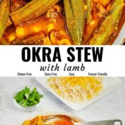 Okra stew pin image with different views.