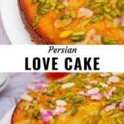 Persian love cake pin image.