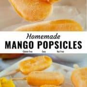 Mango popsicles pin image.