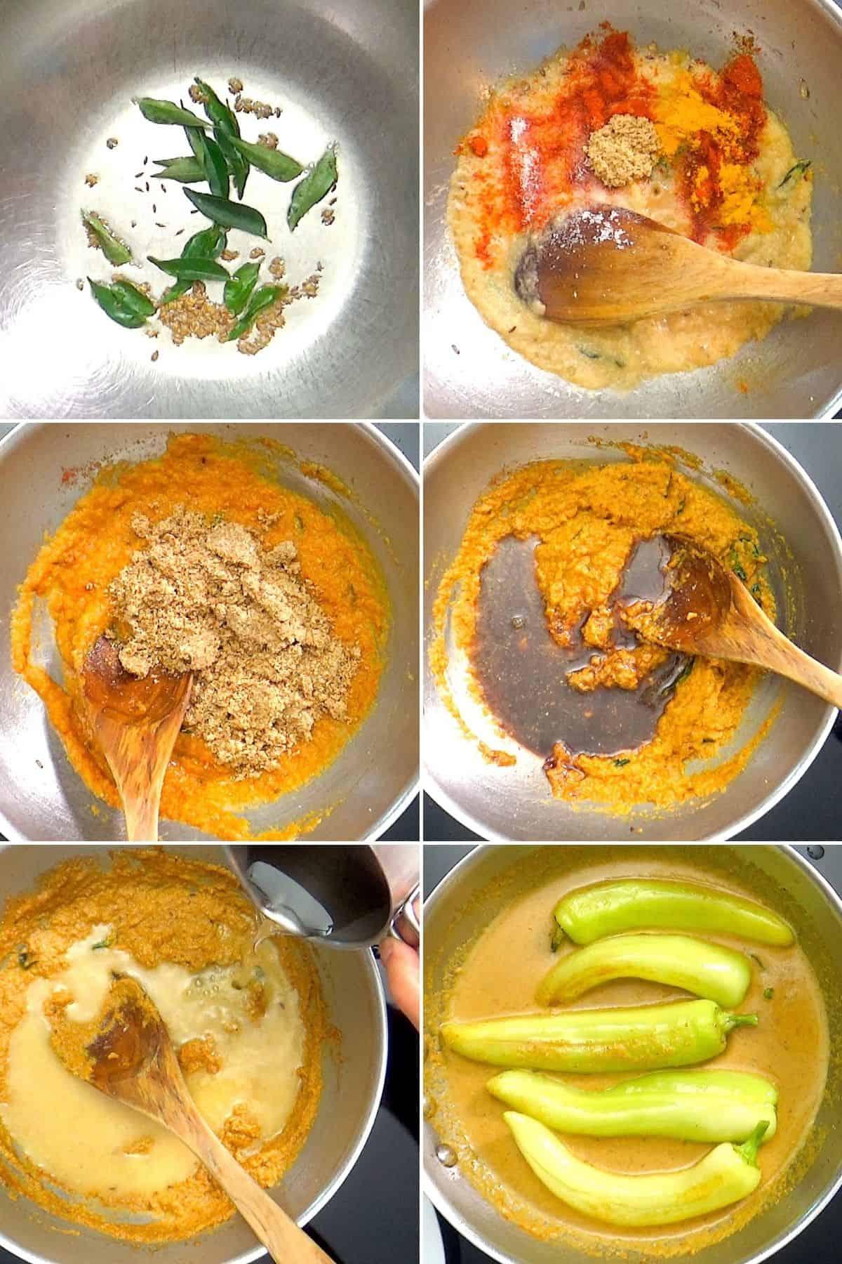 Step by step making of mirchi ka salan.