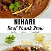 Nihari beef shank stew pin image.