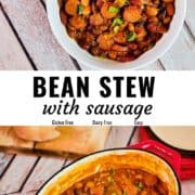 Easy bean stew with sausage Pin image.